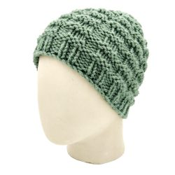 Checks Beanie Skullie - Green