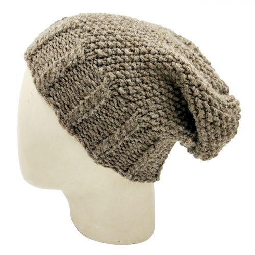 Men's Slouch Beanie Cap – Faded Brown
