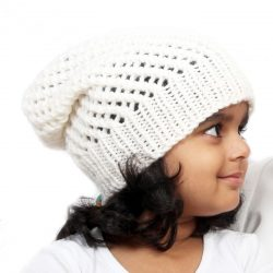 Netted Beanie – White