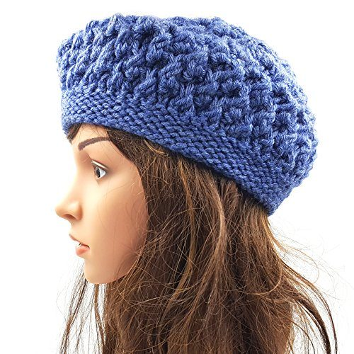 Berry Slouchy Beanie - Denim