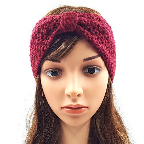 Bow Headband - Maroon