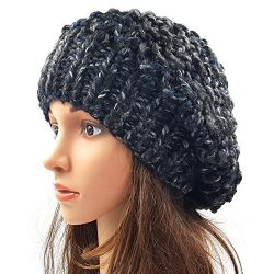 Netted Slouchy Beanie - Faded Black