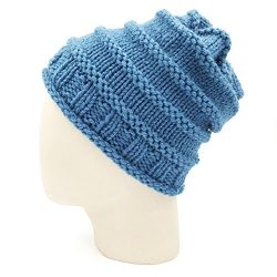Spiral Slouchy Beanie - Storm Blue