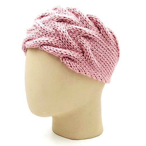 Double Cable Headband - Pink