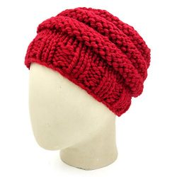 Bicycle Wheel Beanie - Maroon