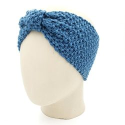 Bow Headband - Storm Blue
