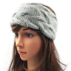 Double Cable Headband - Light Grey
