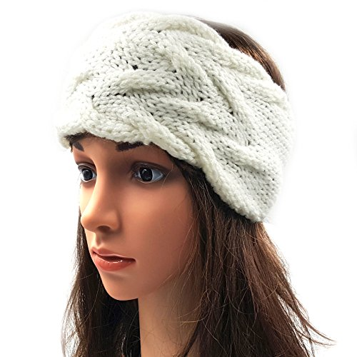 Double Cable Headband - White