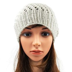 Netted Beanie - White