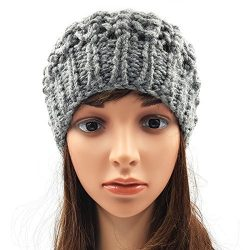 Netted Slouchy Beanie - Grey