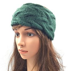 Double Cable Headband - Dark Green
