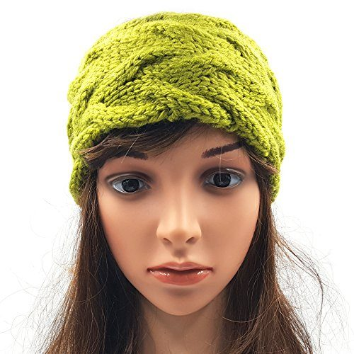 Double Cable Headband - Olive Green
