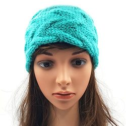 Double Cable Headband - Sea Green