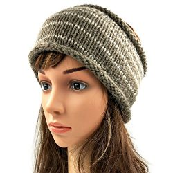 Striped Headband - Brown