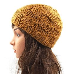 Checkered Skull Cap - Brown