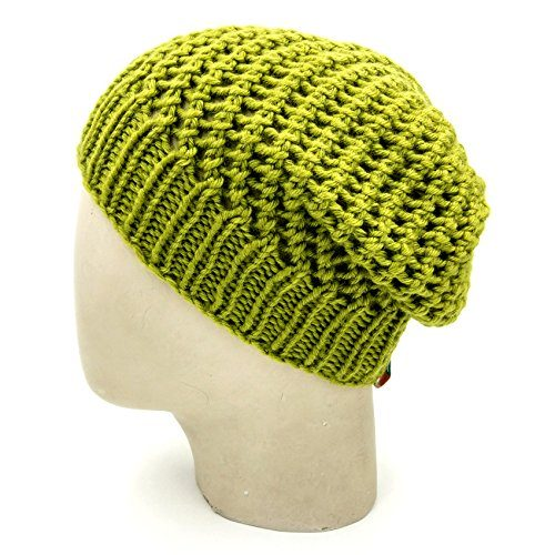 Netted Beanie - Olive Green