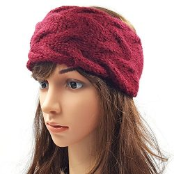Double Cable Headband - Maroon