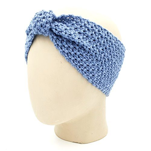 Bow Headband - Faded Denim