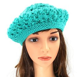 Berry Slouchy Beanie - Sea Green