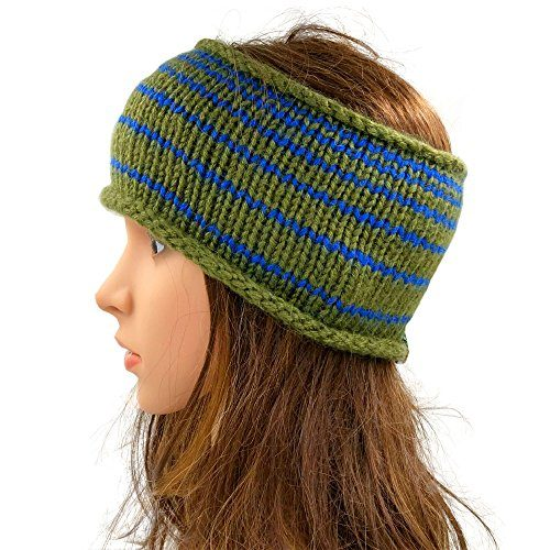 Striped Headband - Green