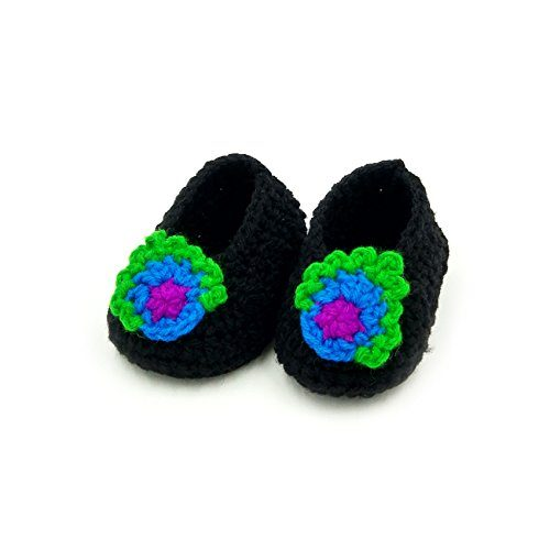 Booties with Flower - Black