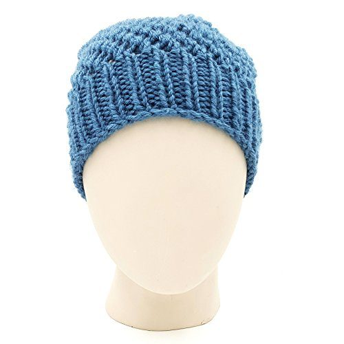Netted Beanie - Storm Blue