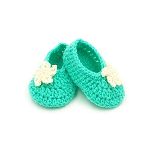 Booties with Flower - Green