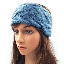 Double Cable Headband - Storm Blue