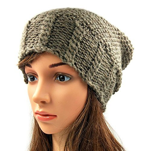 Slouch Beanie - Faded Brown
