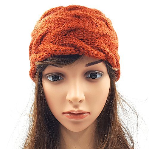 Double Cable Headband - Brick Red