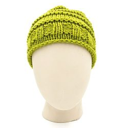 Spiral Slouchy Beanie - Olive Green