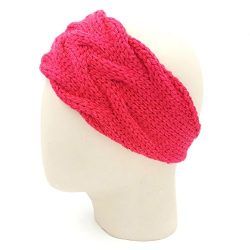 Double Cable Headband - Coral Red