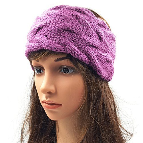 Double Cable Headband - Purple