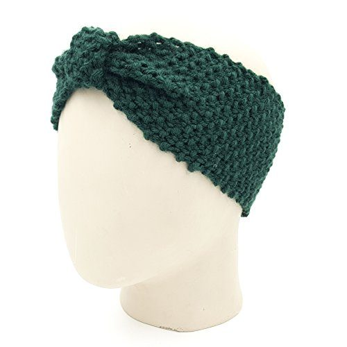 Bow Headband - Dark Green