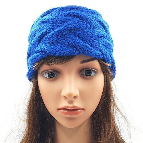 Double Cable Headband - Royal Blue
