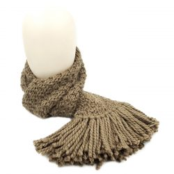 Brown Scarf with Tassels