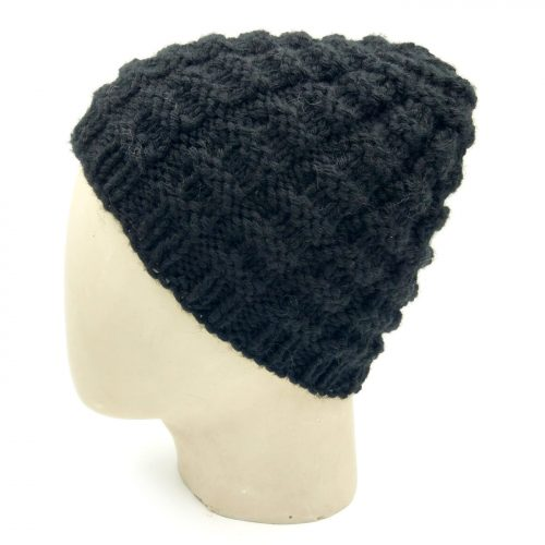 Checks Beanie Skullie - Black