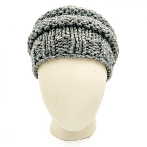 Bicycle Wheel Beanie - Light Grey