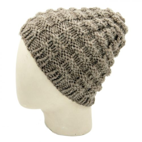 Checks Beanie Skullie - Brown