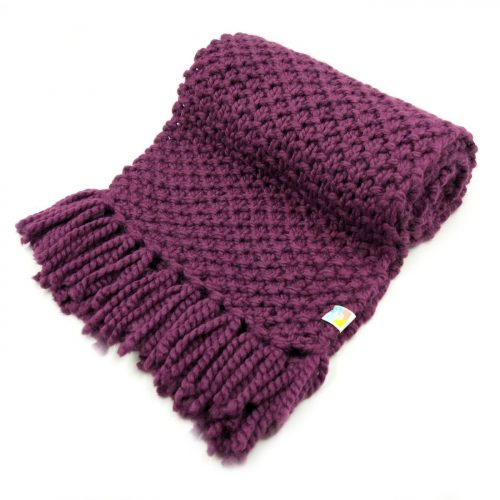 Wine Scarf with Tassels