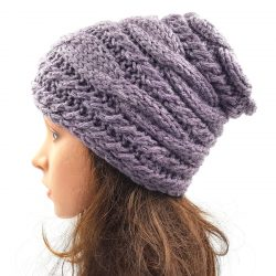 Cable Slouchy Beanie