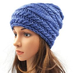 Cable Slouchy Beanie Cap
