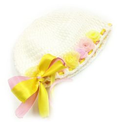Infant Bows and Ribbons Cap - White