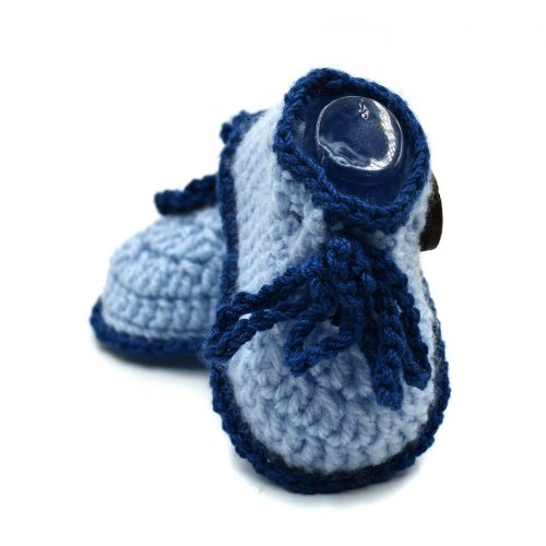 Ankle Boots Baby Booties with Lace Tie & Buttons