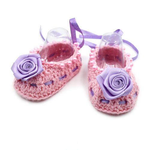 Ballerinas with Flowers & Ribbons - Pink