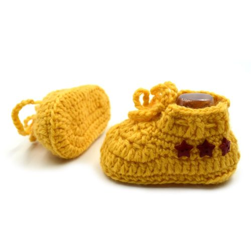 Infant Sneakers with Buttons - Yellow