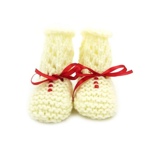 Infant Netted Boots - Cream