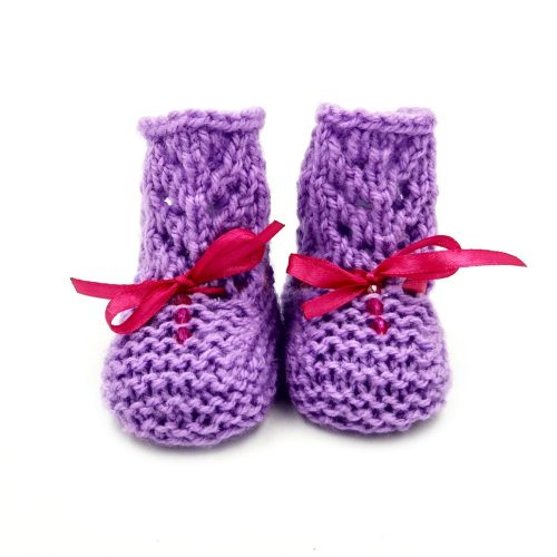 Infant Netted Boots - Purple