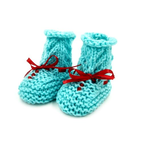Infant Netted Boots - Green