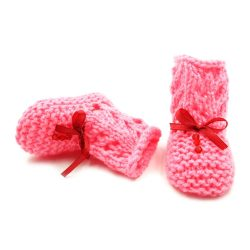 Infant Netted Boots - Pink